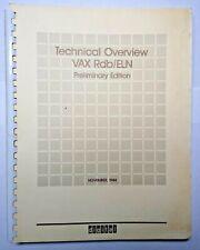 Dec Digital Equipment Corporation Vax Rdb/Eln Technical Overview Preliminary Ed.