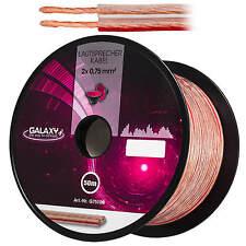 50m 2x0,75mm² GALAXY Lautsprecherkabel CCA MUSIK BOXEN AUDIOKABEL Speaker Cable