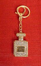 Perfume Bottle Keyring Keychain Diamante Rhinestone Charm Ladies Bling Handbag