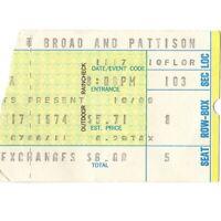 FRANK ZAPPA KING CRIMSON Concert Ticket Stub PHILADELPHIA 11/17/74 SPECTRUM Rare