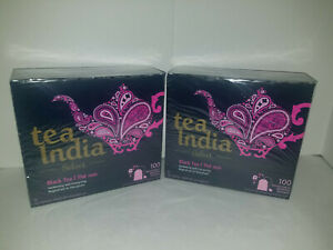 LOT OF 2 Tea India Black 250gm 100ct(200 TOTAL) TEA BAGS STRONG Black Chai Noir