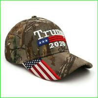 President Donald Trump 2020 Cap Camouflage USA Flag Baseball Caps Hat 2S