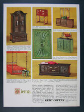 1965 Kent-Coffey TIERRA Country Spanish Furniture photos vintage print Ad