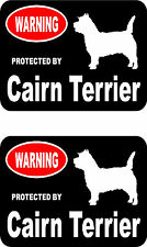 2 protected by Cairn Terrier dog car bumper home window vinyl decals stickers