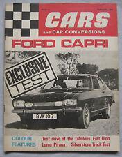 Cars & Car Conversions 02/1969 featuring Ford Capri, Vauxhall Viva GT, Fiat Dino