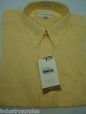 NEW Cutter & Buck Men's Yellow Button Down Wrinkle Resistant Dress LS Shirt S