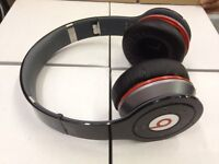 Used Original MONSTER BEATS WIRELESS by Dr Dre BLACK bluetooth Headphones iphone