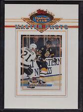 1993 Topps Stadium Club 5x7 Master Photo Adam Oates Boston Bruins