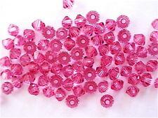 48 Rose Swarovski Beads Bicone 5328 3mm