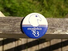 "Excellence 1983 '83 American Bald Eagle 2 1/4"" Round Metal Pin Pinback Button"