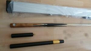 superior snooker cue  9.5mm tip - shaw cue 1pc cue plus ally box case and ext