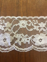 beautiful lace edge curtains,dress making tailoring 6.5cm  Wide. White per mt