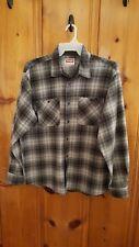 Wrangler Premium Quality men's size L Fleece Shirt Jacket Plaid Grey