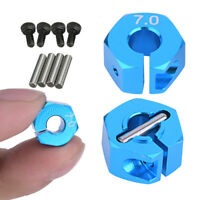 4Pcs 12mm 7.0 Wheel Hex Drive Adapter Hub RC Model Vehicle Parts w/Pins & Screws