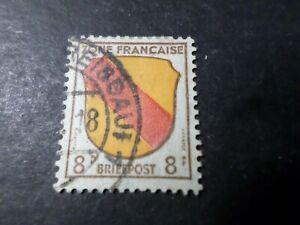 ALLEMAGNE Occupation Française timbre 4, Armoiries BADE oblitéré, VF STAMP