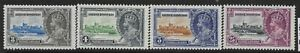BRITISH HONDURAS SG143/6 1935 SILVER JUBILEE SET MTD MINT