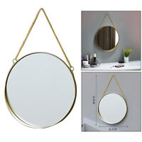 Wall Hanging Mirror with Chain Bedroom Gold Frame Home Bathroom Decor S
