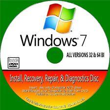 Windows 7 installation réinstaller réparer toutes les versions 32/64 bits neuf bootable dvd