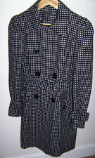 Button Polyester Formal Spotted Coats & Jackets for Women