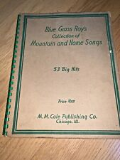 1936 BLUE GRASS ROY'S COLLECTION OF MOUNTAIN & HOME SONGS Book HILLBILLY MUSIC