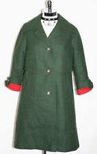 GREEN ~ Loden WOOL Women Austria Winter WARM Trench LONG Over Coat Jacket 10 M