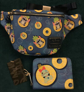 Loungefly Lilo & Stitch Pineapple Floaty Fanny Pack And Wallet