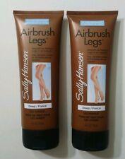 2X Sally Hansen AirBrush Legs Deep 04 Water Resistant Leg Makeup Lot 4 oz Each
