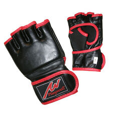 Childrens Leather MMA Gloves Mitts Punching Fighting Sparring Training Kids