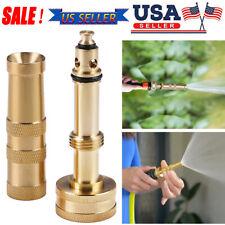 "Solid Brass Garden Nozzle Heavy Duty 4""Adjustable Twist Water Hose Nozzle New Us"