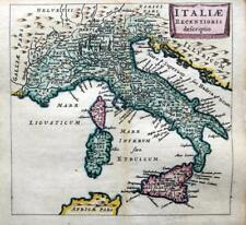 ITALY ITALIAE BY PHILIPP CLUVER / BERTIUS c1661 GENUINE 350 YEAR OLD ANTIQUE MAP