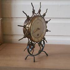 Antique metal shelf MANTEL PENDULUM clock ORFAC!