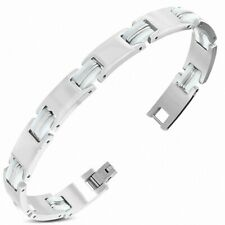 Bracelet with Link Panther Stainless Steel with Rubber White 416