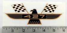 "Vintage Ford Galaxie Thunderbird 427 gold/black sticker decal 6""x2.3"""