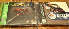 Lot 2 PS1 playstation 1 racing games-Jet Moto 2/Nascar 99-Complete & Excellent