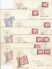 Stamp Australia 1960 Christmas on set of 7 Royal cachet FDC's uncommon like this