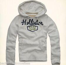 HOLLISTER White/Ivory Hoodie Jacket Men's Extra Large NeW XL Pockets Sweatshirt