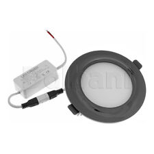 9W 6000k Black Pearl Modern Slim Design Ceiling Round Panel Down Light