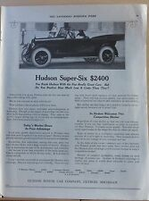 1921 magazine ad for Hudson Super- Six - Today's Market Shows Price Advantage