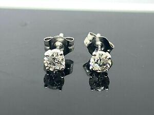 Single 0.30CT REAL GENUINE Diamond Stud Earring 14k SOLID Gold WOW