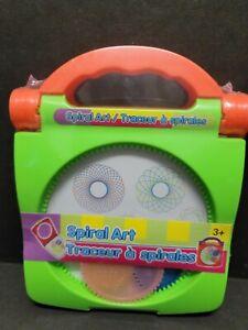 Spiral Art Craft Set Spirograph Stencil Spiral Wheels Compact Travel Kids Toy #1