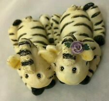 "White Black Stripe 2.5"" Zebra Twins Figurine"