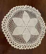 Beautiful Crochet White Handmade Vintage Doily Doilie 14 1/2 Inch Crocheted