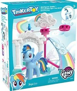 NEW TinkerToy My Little Pony Rainbow Dash Cloudsdale Spin & Soar Building Set
