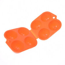 portable plastic container 4 eggs holder folding egg storage box handle caseQY