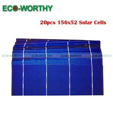 20pcs 2x6 Poly Solar Cells w/High Efficiency for DIY Solar Panel Battery Charger