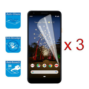 For Google Pixel 3A - Screen Protector Shield Cover Guard LCD Film Foil x 3