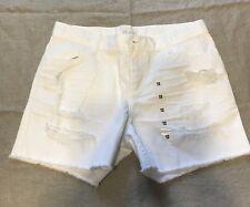 THE CHILDREN'S PLACE White Denim Shorts Sz 12 NWOT