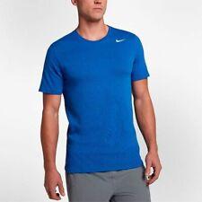Nike Dri-fit Tee Shirt Blue XL Athletic Cut Cotton Short Sleeve 706625 Training