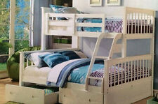 Bunk bed Only Double /single  Trio Bunk white Or A/oak Kids SOLID NEW