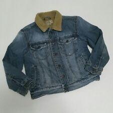 Children's Place Girls Jacket Size Medium Cotton Denim Faux Fur
